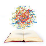 Scribble on the book Royalty Free Stock Photos