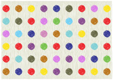 Scribble bright polka dots background Royalty Free Stock Image