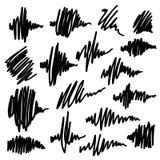 Scribble brush strokes set. Equalizer icons. Scribble brush strokes set, vector logo design element. Equalizer icons stock illustration