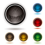 Scribble button glow Royalty Free Stock Images