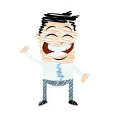 Scribble cartoon man Royalty Free Stock Photos
