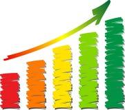 Scribble chart Stock Photos