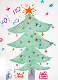 Scribble of Christmas Royalty Free Stock Photography