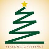 Scribble Christmas tree card Royalty Free Stock Photo