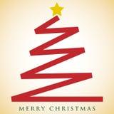 Scribble Christmas tree card Stock Photo