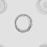 Scribble Circles Seamless Pattern Royalty Free Stock Image