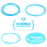 Scribble Circles,. Vector design elements Royalty Free Stock Images