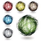 Scribble color variation stock illustration