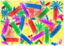 Scribble da criança Imagens de Stock