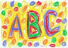 Scribble da criança Fotos de Stock
