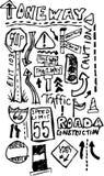 Scribble da rua Foto de Stock