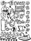 Scribble do bebê Imagens de Stock Royalty Free