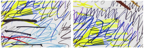 Scribble drawing unique background collage Royalty Free Stock Images