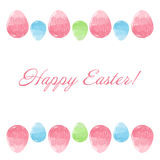 Scribble Easter eggs border frame Stock Photography