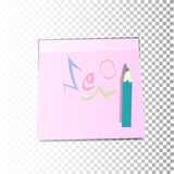 scribble Etiqueta engomada de papel de la oficina libre illustration