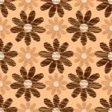 Scribble flower seamless pattern Royalty Free Stock Image