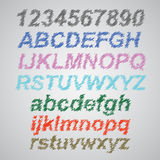 Scribble Font Royalty Free Stock Photos