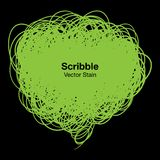 Scribble green bubble Stock Photography