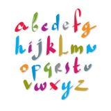Scribble handwritten font, vector brushed alphabet. Stock Image