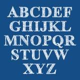 Scribble handwritten font, vector brushed alphabet. Scribble handwritten font, vector fresh brushed alphabet Stock Photo