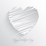 Scribble heart background Royalty Free Stock Images