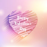 Scribble heart Valentine's Day design Royalty Free Stock Images
