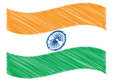 Scribble of indian flag Royalty Free Stock Photography