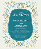 Scribble Invitation Stock Photo