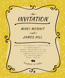Scribble Invitation. Invitation to the wedding, in the style of sketch Royalty Free Stock Photo