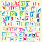 Scribble letters Royalty Free Stock Photography
