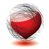 Scribble love vector illustration