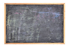 Scribble Messy School Black Chlakboard Royalty Free Stock Image