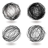 Scribble nest variation Stock Images