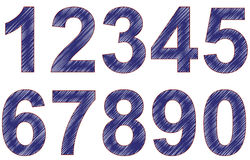 Scribble numbers Stock Images