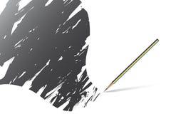 scribble ołówkowa papierowej royalty ilustracja