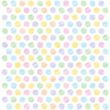 Scribble polka dots background Stock Photos