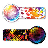 Scribble rainbow tag Royalty Free Stock Image