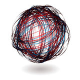 Scribble red ball Stock Photography