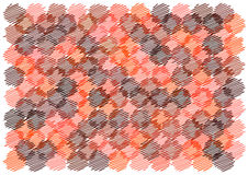Scribble retro circles background Royalty Free Stock Images