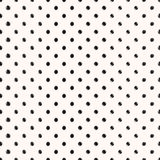 Scribble seamless dots vector pattern Royalty Free Stock Images