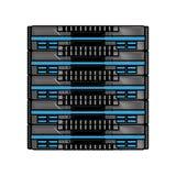 Scribble server cartoon. Scribble black server cartoon vector graphic design Stock Photo