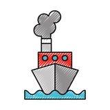 Scribble ship cartoon Royalty Free Stock Image