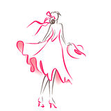 Scribble silhouette of woman Royalty Free Stock Photo