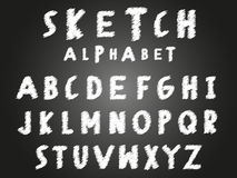 Scribble sketch alphabet Stock Photos