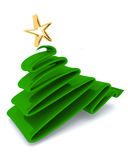 Scribble sketch Christmas tree concept Stock Images