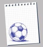 Scribble soccer ball Stock Photos
