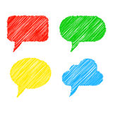 Scribble speech bubbles. Vector illustration Stock Image