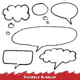 Scribble speech and thought bubbles. Royalty Free Stock Image