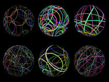 Scribble spheres Stock Photos