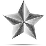 Scribble star. With shadow and metal style design Royalty Free Stock Image